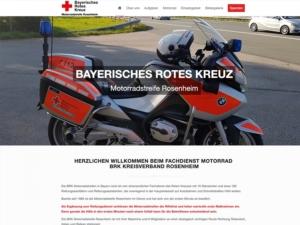 Bayerisches Rotes Kreuz Motorradstreife Rosenheim
