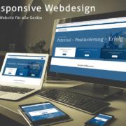 Responsive Webseite für Unternehmer auf verschiedenen Geräten zu sehen