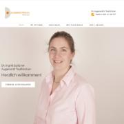 Webseite für Arztpraxis auf PC-Blidschirm
