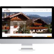 WebDesign Rosenheim Referenz für Ferienwohnung auf PC-Bildschirm