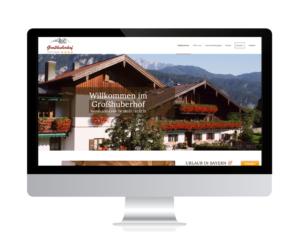 Großhuberhof, Ferienwohnungen Kiefersfelden Relaunch