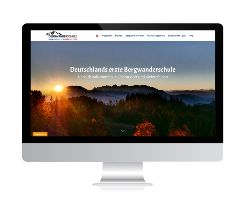 WebDesign Rosenheim Referenz für Tourismus-Angebot auf PC-Bildschirm