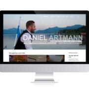 WebDesign Rosenheim Referenz für Politiker auf PC-Bildschirm