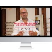Referenzen Agentur Guthmann: Optiker Unternehmen auf PC-Bildschirm