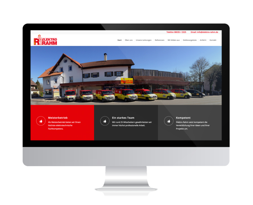 Referenzen Agentur Guthmann: für Handwerksbetrieb auf PC-Bildschirm