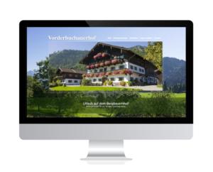 Vorderbuchauerhof, Oberaudorf relauncht mit Guthmann Webdesign Rosenheim