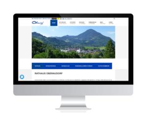 Barrierearme kommunale Webseite für Oberaudorf