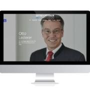 WebDesign Rosenheim Referenz für Landtagsabgeordneten Otto Lederer auf PC-Bildschirm
