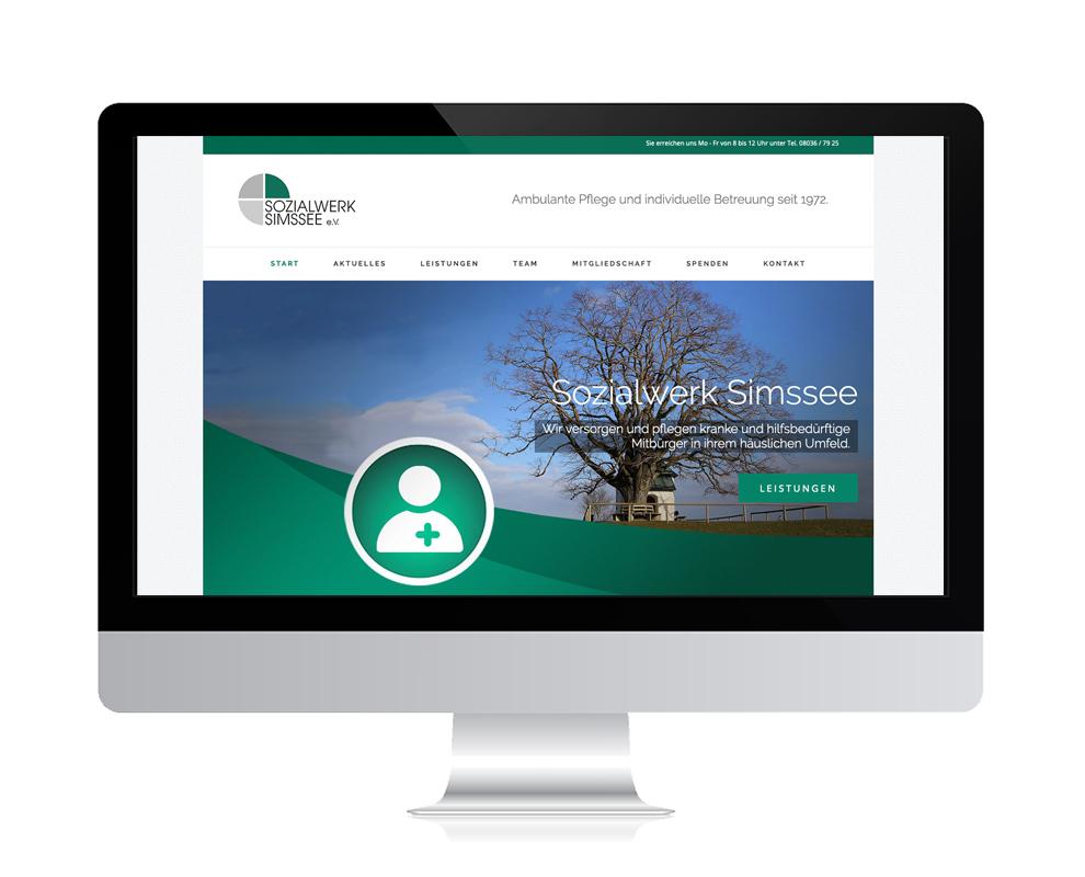 WebDesign Rosenheim Referenz für soziale Einrichtung auf PC-Bildschirm