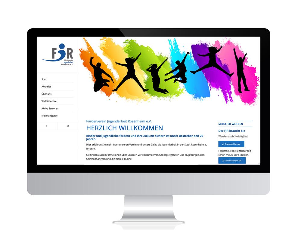 WebDesign Rosenheim Referenz für Verein auf PC-Bildschirm