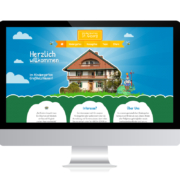 WebDesign Rosenheim Referenz für Kindertagesstätte auf PC-Bildschirm