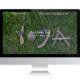 Referenz für Yogaschule auf PC-Bildschirm