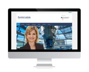 Neuer Internetauftritt der Rosenheimer Bundestagsabgeordneten Daniela Ludwig online