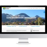 Referenzen Agentur Guthmann: Kommunale Einrichtung auf PC-Bildschirm