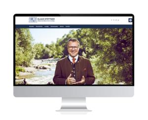 Neugestaltung der Webseite des Landtagsabgeordneten Klaus Stöttner